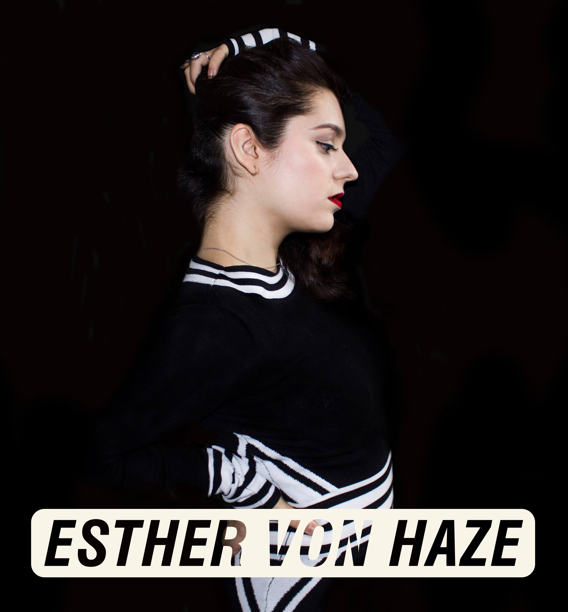 Cover image Esther Von Haze on lineup page Nyx Festival