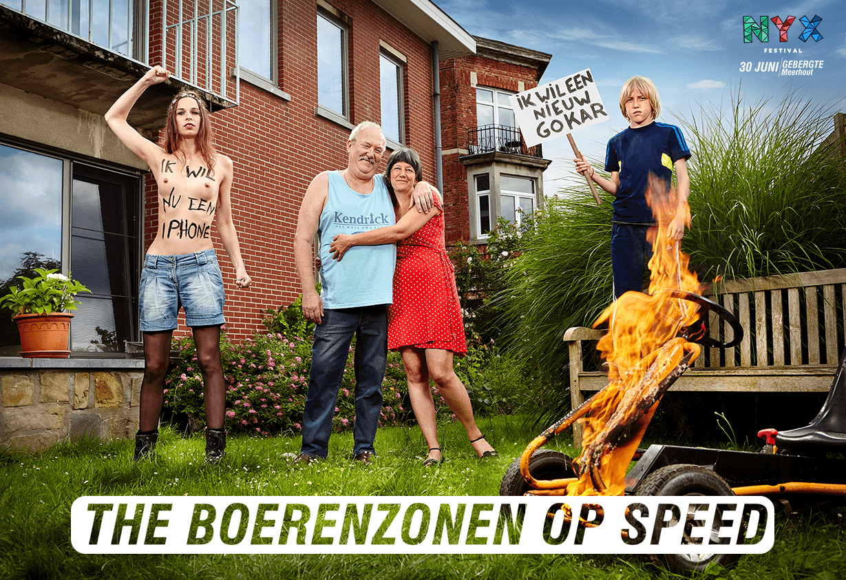 Cover Image of De Boerenzonen op speed on lineup page Nyx Festival